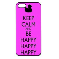 Duck Dynasty Keep Calm and be Happy Iphone 4 case iphone 4s cover