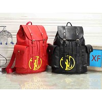 Inseva LV Louis vuitton popular fashion seller for men and women with retro water-print letter backpacks