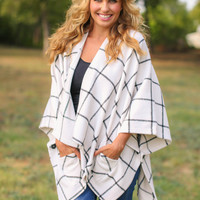 Check It Out Cardigan - White and Black