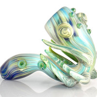 Mythical Legend of the Deep Water - Cthulhu Inspired Heady Glass Sherlock Smoking Pipe Art Piece w/ Huge Bowl