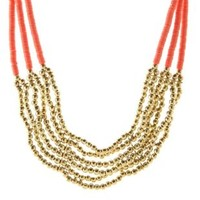 Stacked Sequin & Bead Statement Necklace