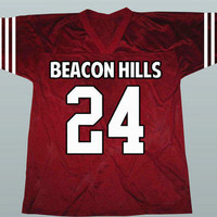 TEEN WOLF Stiles Stilinski #24 Beacon Hills Lacrosse Jersey Any Name and Number All Stitched and Sewn New XS-3XL