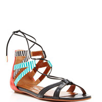 Beverly Hills Printed Leather Sandals