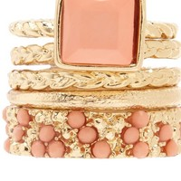 Faceted Stone Stackable Rings: Charlotte Russe