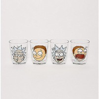 Rick and Morty Shot Glasses 4 Pack - 1.5 oz. - Spencer's
