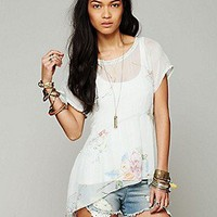 4 Love and Liberty  Sheer Floral Blouse at Free People Clothing Boutique