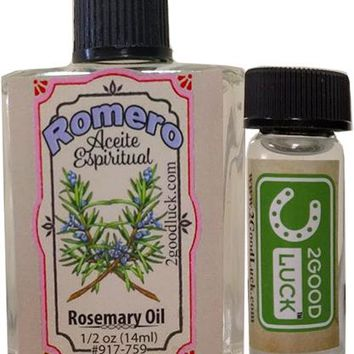 Rosemary Spiritual Oil With 1 Dram Perfume Set / Aceite de Romero