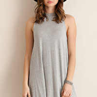 Jersey Shift Dress - Heather Grey