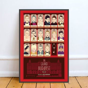 The Grand Budapest Hotel, Wes Anderson, Minimal Movie Poster.