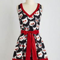 Cats Mid-length Sleeveless A-line Need I Say Amour? Dress