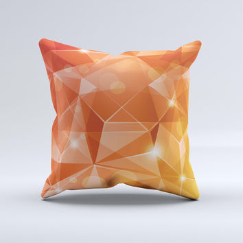 Vector Shiny Coral Crystal Pattern Ink-Fuzed Decorative Throw Pillow