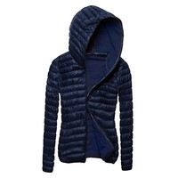 Winter Solid Jacket Outerwear Clothing Women Jacket Coat Cotton Long Sleeve Hooded Simple Fashion Solid Color Coat Clothes