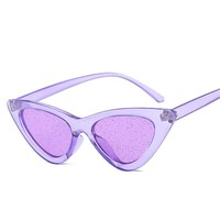 NYWOOH Retro Cat Eyes Sunglasses Women Shiny Purple Red Sun Glasses Ladies Sexy Cateye Vintage UV400 Eyewear 7 Colors