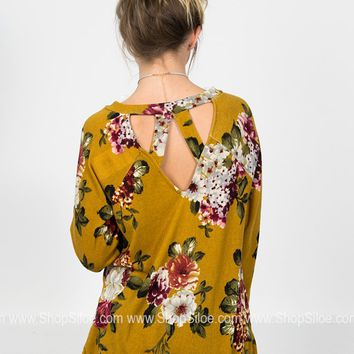Blooming Gold Floral Top