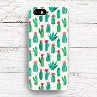 Plants Cactus Banana Leaves Flowers Case For iphone SE 5 5S 6 6S 6Plus