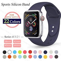 ProBefit soft Silicone Sports Band for Apple Watch 4 3 2 1 38MM 42MM Bands Rubber