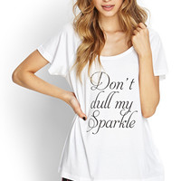 FOREVER 21 My Sparkle PJ Set White/Black Small