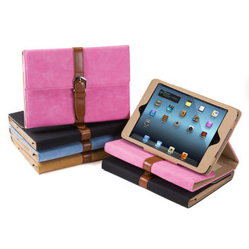 Wallet Case with Belt Design for iPad Mini