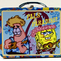 SpongeBob SquarePants Pals in Paradise Embossed Metal Lunch Box/ Carry-All