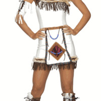 Sexy Fringe Indian Girl Halloween Costume