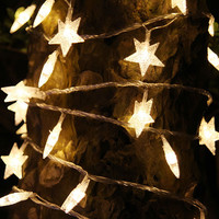 3 Colors 1.5V 3AA Battery Star Curtain LED Garlands Waterproof and 2.5 M Anti-freezing String Fairy Light for Wedding Christmas
