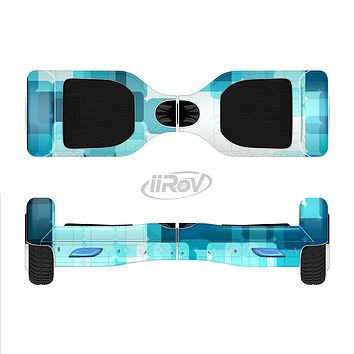The Vibrant Blue HD Blocks Full-Body Skin Set for the Smart Drifting SuperCharged iiRov HoverBoard