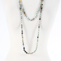 Camille Necklace - Blue Multi