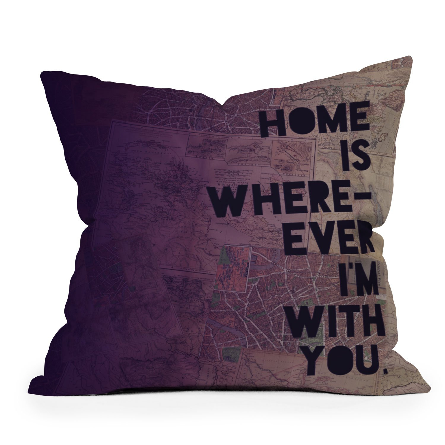 Image of Leah Flores With You Throw Pillow