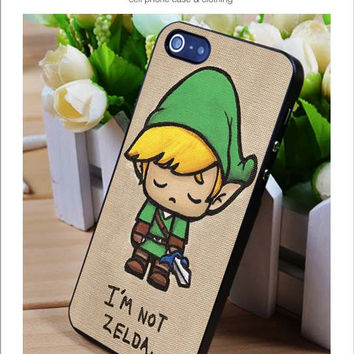 I'm not zelda iPhone for 4 5 5c 6 Plus Case, Samsung Galaxy for S3 S4 S5 Note 3 4 Case, iPod for 4 5 Case, HtC One for M7 M8 and Nexus Case