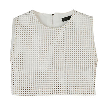 Rectangle Shape Punched Cropped Top