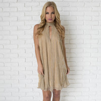 All That Jazz Party Dress In Gold
