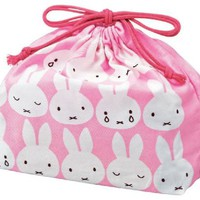 "Dick Bruna Miffy Design Bento Lunch Box Carrying Bag (Size:7""x10.5""x3"")"