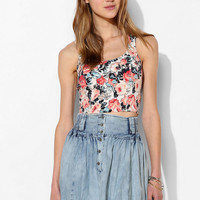 Kimchi Blue Zigzag Floral Cropped Top - Urban Outfitters