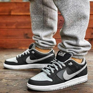 Nike SB sneakers, shadow gray low-top sneakers, men's and women's couples fashion casual sports skateboard shoes, casual shoes