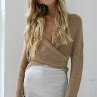 The Dreamer Knit Wrap Top