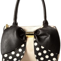 Betsey Johnson Bow Nanza Satchel Purse Shoulder Bag Handbag