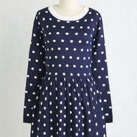 Short Length Long Sleeve A-line Steep in Thought Dress