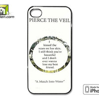 Pierce The Veil Song Lyrics iPhone 4 Case Cover by Avallen