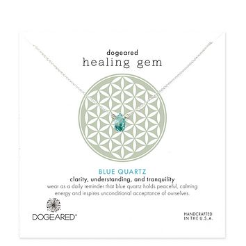 Dogeared - Lasting Healing Gems Blue Quartz Necklace