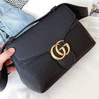 GUCCI  New fashion leather shoulder bag crossbody bag Black