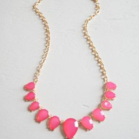 Pink Drops Necklace