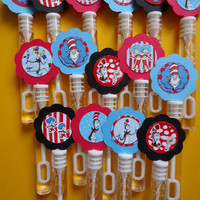 Cat inspired party favor bubbles, Cat birthday bubble wands set of 15