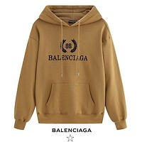 Balenciaga New fashion letter print hooded long sleeve sweater Khaki