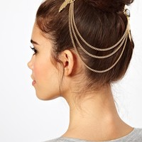 ASOS Stone Feather Hair Brooches