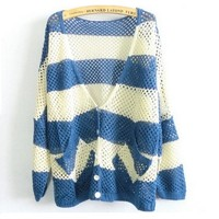 knitwear Blue and White