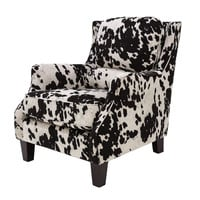Michael Anthony Furniture Rondan Club Chair, Cow Black