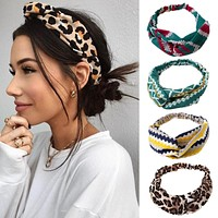 Print Cross Knot Headband