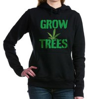 GROW TREES Women's Hooded Sweatshirt> Grow Trees> 420 Gear Stop