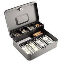 Tier Cash Box Steel Safe Key Lock Compartment Tray Draw Money Security Till new