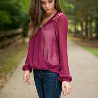 Test of Time Blouse, Maroon